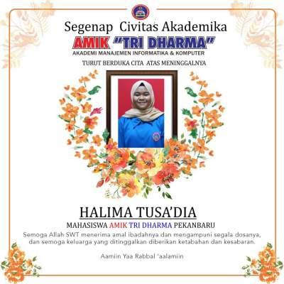 Mahasiswa AMIK Tri Dharma Pekanbaru Tutup Usia, AMIK Tri Dharma Berduka